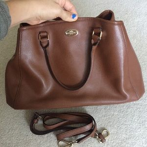 Coach Small Margot Carryall Brown Leather Satchel